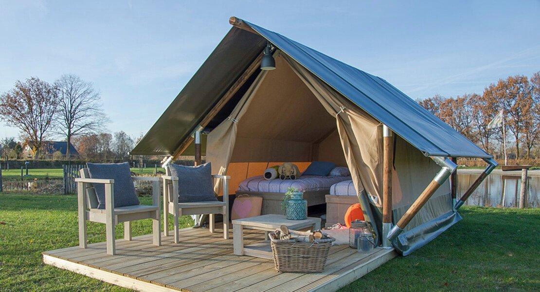 Kleine glamping tent