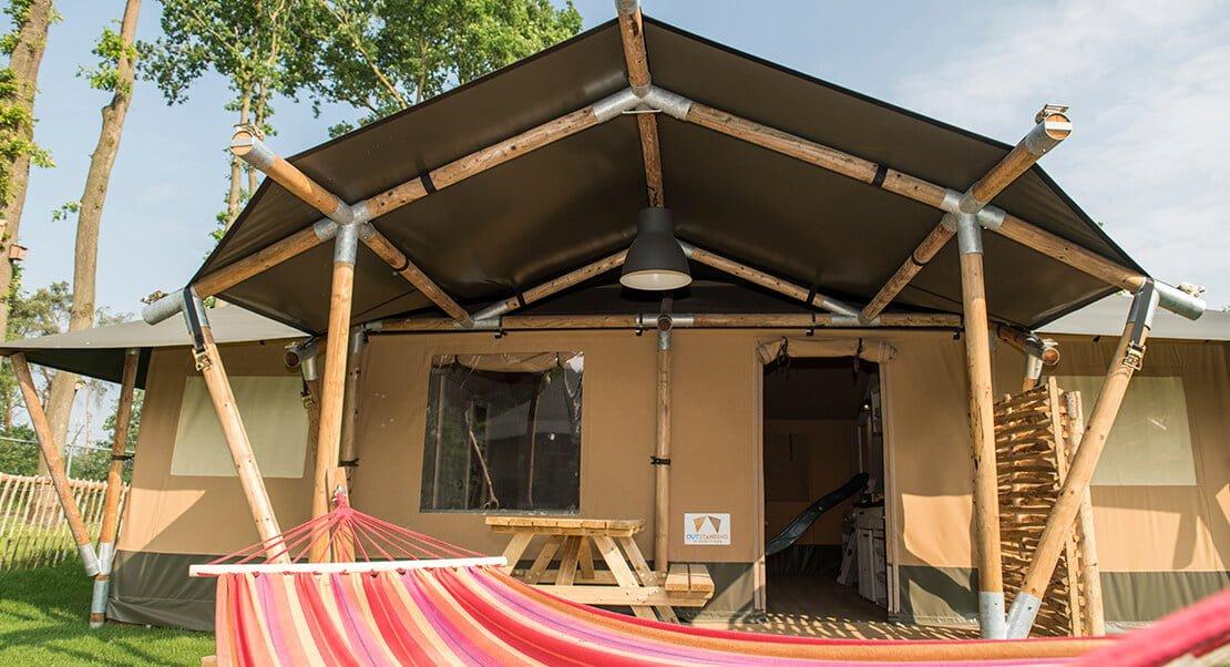 grote glamping tent luxe kamperen