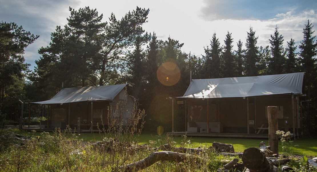luxe glamping tenten