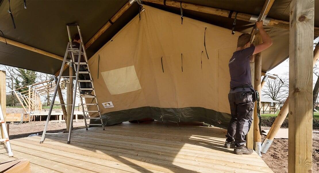 lodge tent groot met sanitair