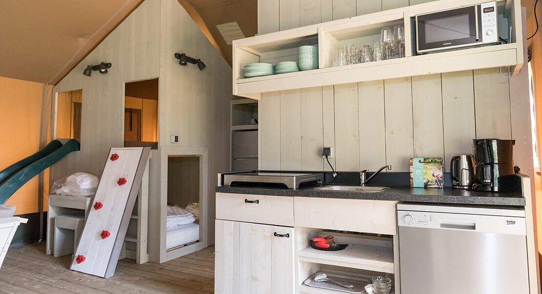 lodge tent groot met keuken