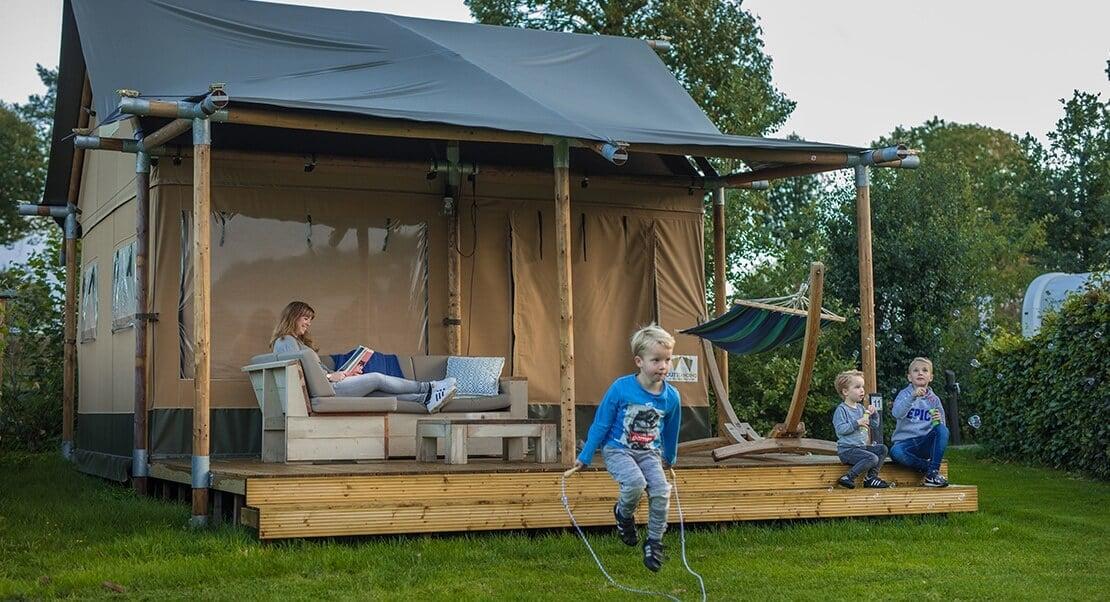 lodge tent luxe kamperen