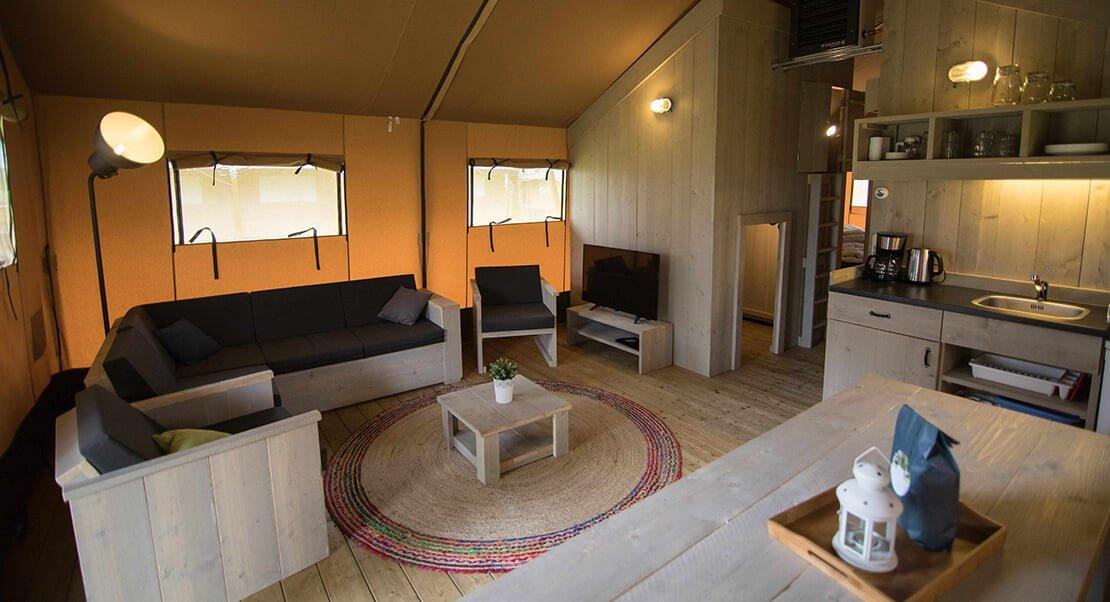safaritent groot luxe kamperen