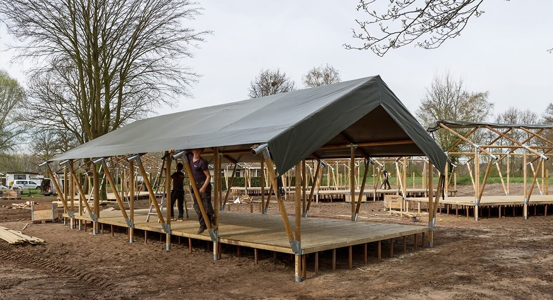 Grote safaritent glamping