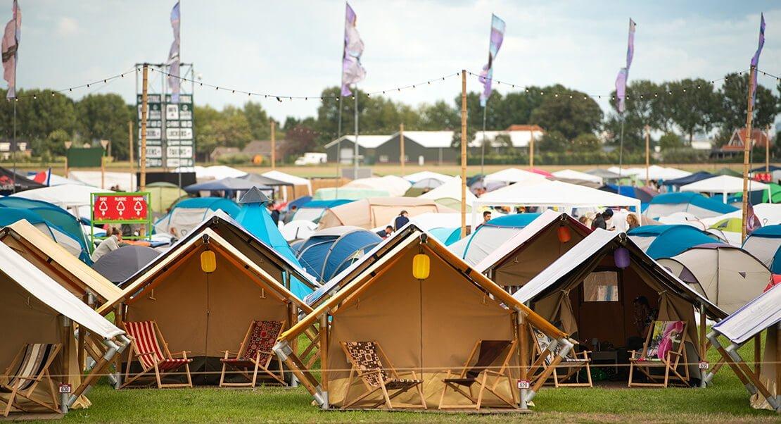 luxe glamping tenten festival
