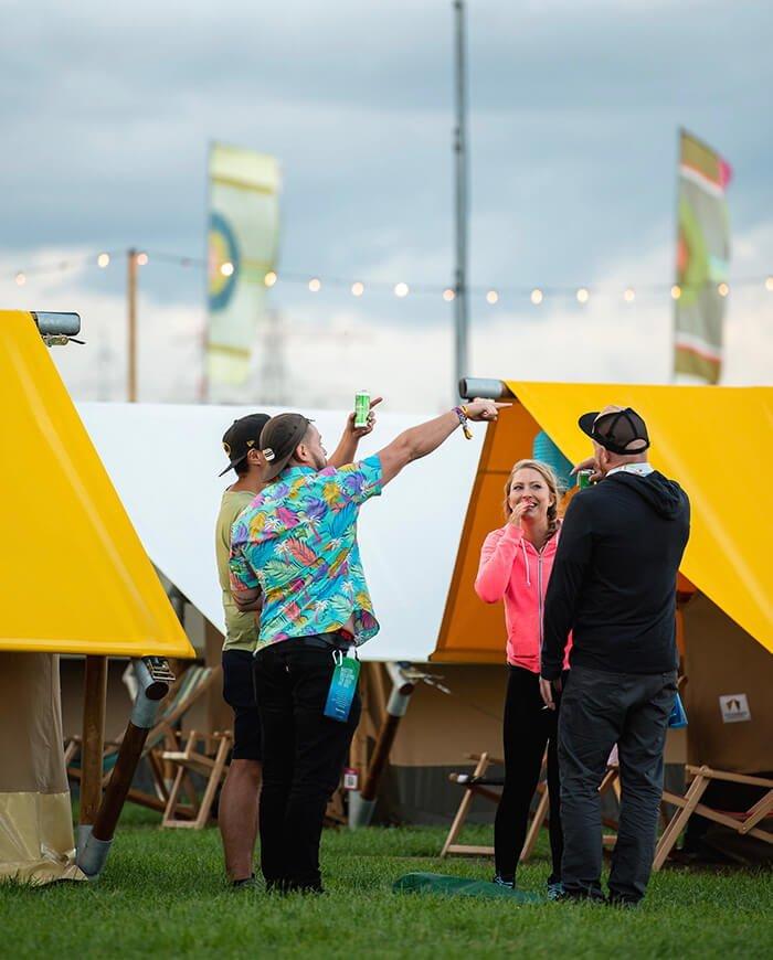 glamping tent festival